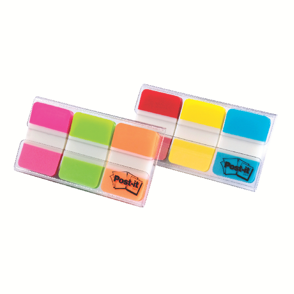 Post-it Red/Yellow/Blue Strong Index Full Colour (Pack of 3x22) 686-RYB