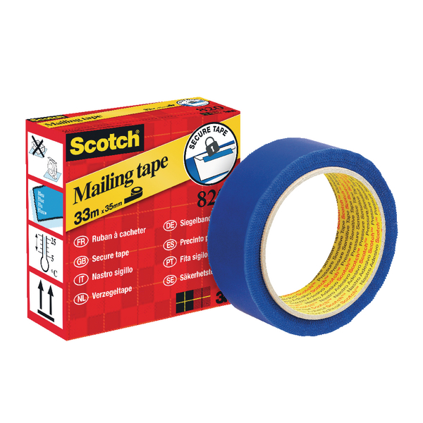 Scotch Secure Mailing Tape 35mmx33m Blue 820
