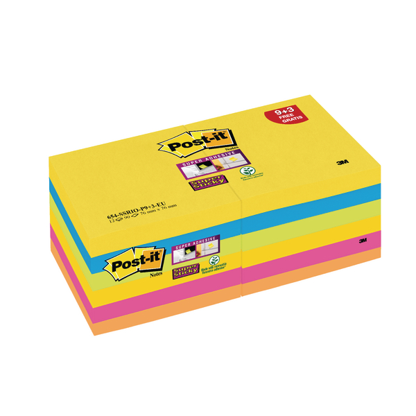 Post-it Rio Z-Notes 76x76mm Refill Pack