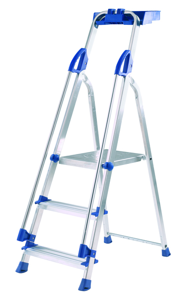 Abru Blue Seal 3 Tread Professional Aluminium Step Ladder 70503