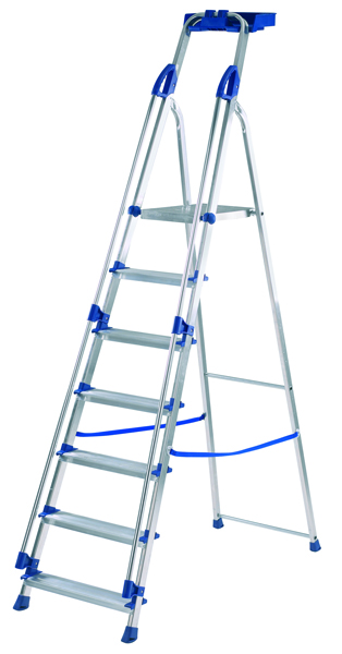 Abru Blue Seal 7 Tread Professional Aluminium Step Ladder 70507