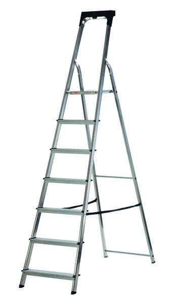 Abru Aluminium High Handrail 7 Tread Step Ladder 60607