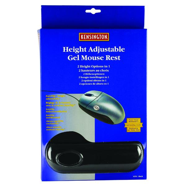 Kensington Black Height Adjustable Gel Mouse Pad (Pack of 1) 57711