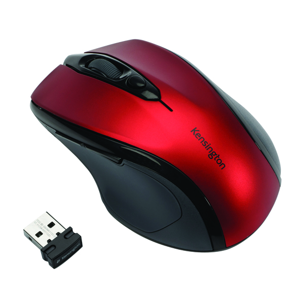 Kensington Pro Fit Mid Size USB Wireless Mouse Red K72422WW