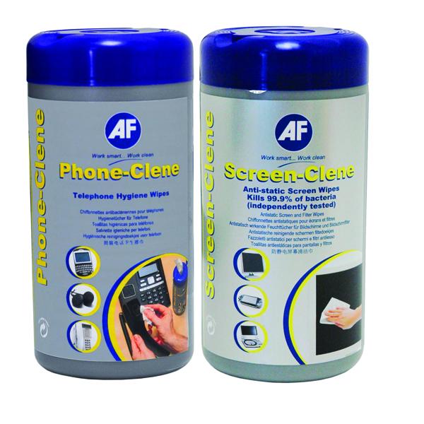 Image for AF Phone-Clene/Screen-Clene Wipes Tub Bundle APHCSCR100T