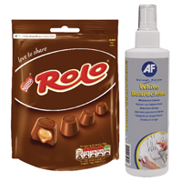 AF White Boardclene 250ml (Pack of 1 with Free Rolos) AFI83851