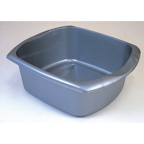 Addis Metallic Grey 9.5 Litre Rectangular Washing Up Bowl 9603MET