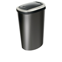 Addis 40 Litre Deluxe Rectangular Press Top Bin Black 508419