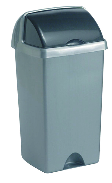 Addis Roll Top Bin 50 Litre Metallic