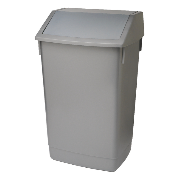 Addis 60 Litre Fliptop Bin Metallic Grey
