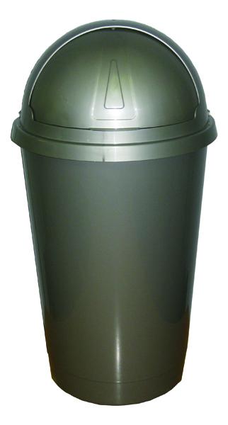 Addis Bullet Bin 50 Litre Metallic AG813420