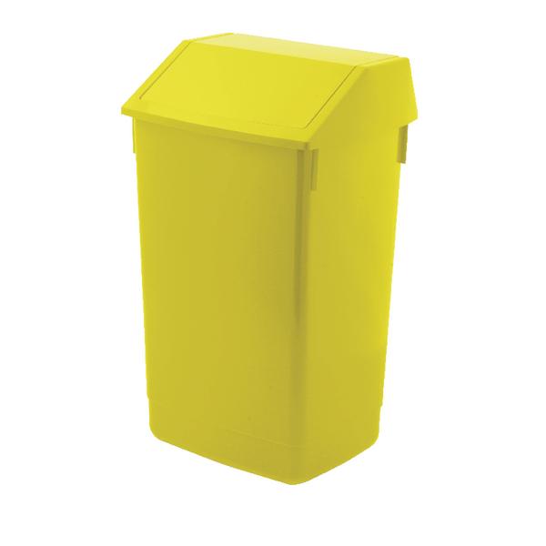 Addis 60 Litre Fliptop Bin Yellow AG813423