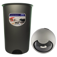 Addis Smart 50L Bin Base and Slide Top Lid Metallic (Pack of 1)