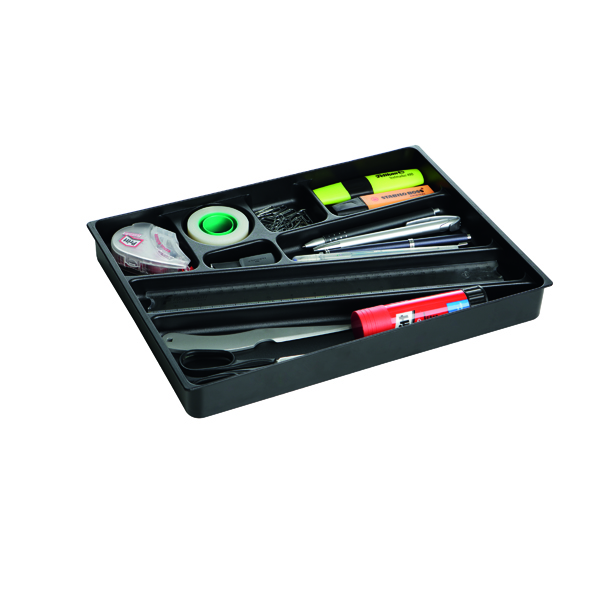Durable Black Desk Drawer Organiser (Pack of 1) 1712004058