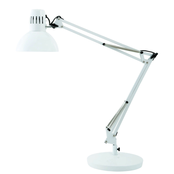 Image for Alba 60W White Architect Desk Lamp
