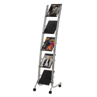 Alba 5 Shelf Single Sided Mobile Literature Display Stand 1 x A4 (Pack of 1)  DD5PM