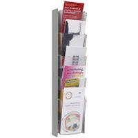 Alba Wall Display Unit 5 Pocket 1/3 A4 Metallic W150 x H560mm (Pack of 1) DDPROPMM