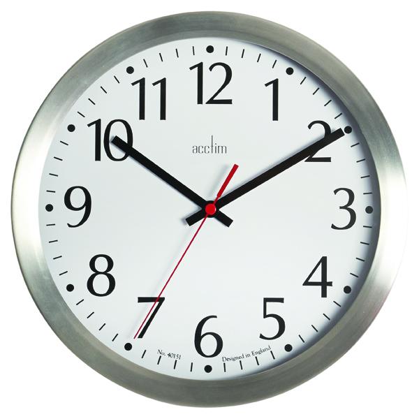 Acctim Javik 10in Alu Wall Clock Alum