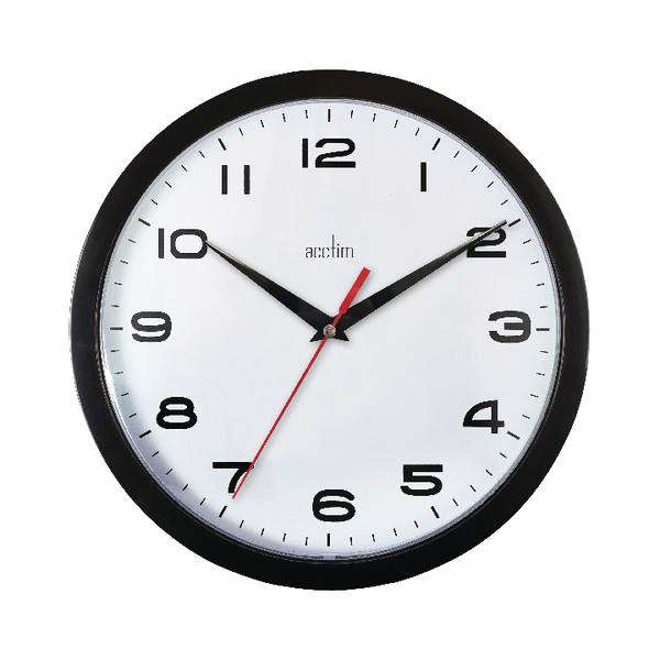 Image for Acctim Aylesbury Wall Clock Black 92/302