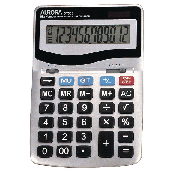 Aurora Desktop Calculator 12-digit DT303