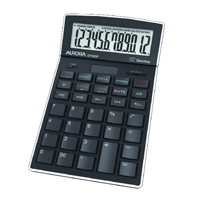 Aurora Desktop Calculator 12-digit Black DT920P