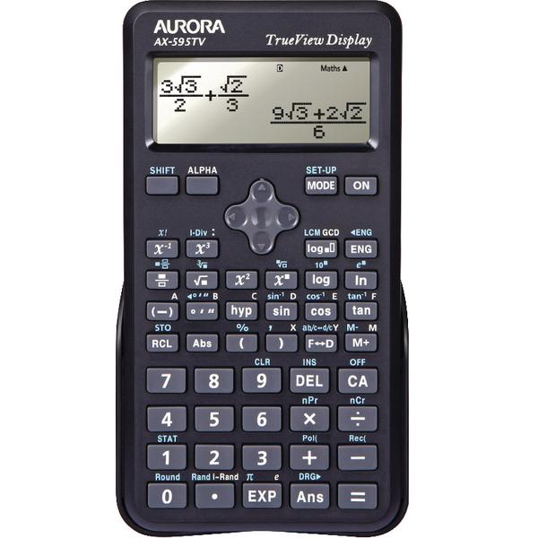 Image for Aurora Black Dot Matrix Scientific Calculator AX595TV