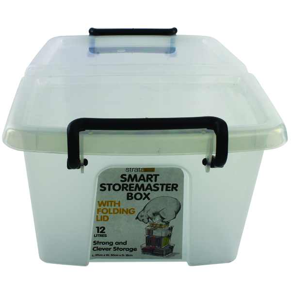Strata Clear Smart Storage Box 12 Litre (Pack of 1) HW671