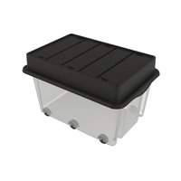 Strata Mega Crate Clear with Black Lid (Pack of 1) HW409