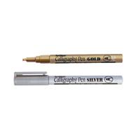 Artline Gold/Silver Calligraphy Marker Pens (6 Pack) EK-993-W6