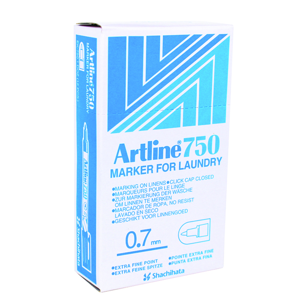 Artline Laundry Marker Black 750