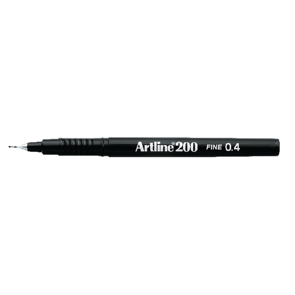 Image for Artline 200 Pen 0.4mm Tip Black A2001