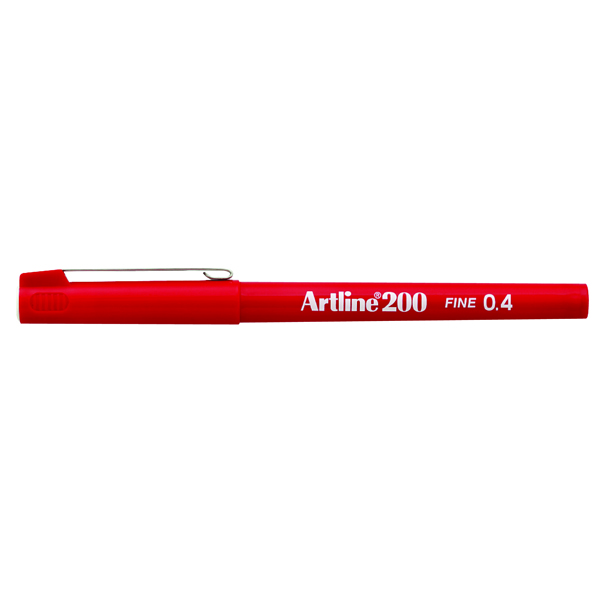 Artline 200 Red Fineliner Pen (Pack of 12) A2002