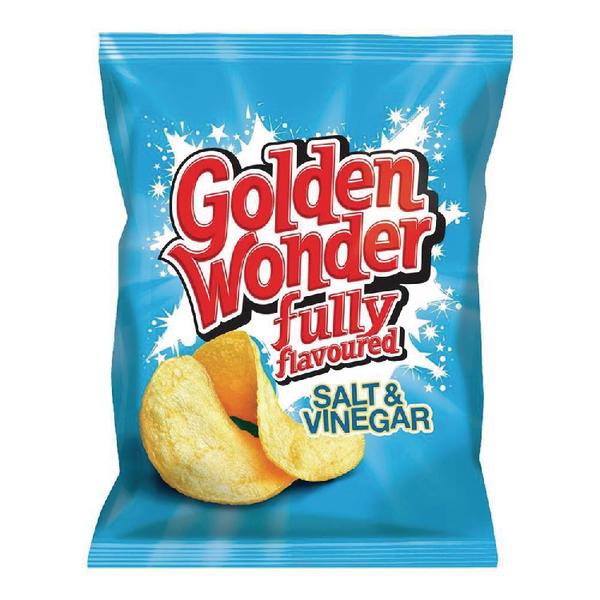 Golden Wonder Salt and Vinegar Crisps (Pack of 32) 121303