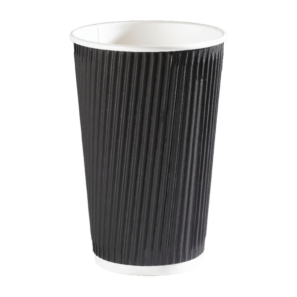 35cl Black Ripple Cup (500 Pack) HVRWBPA12