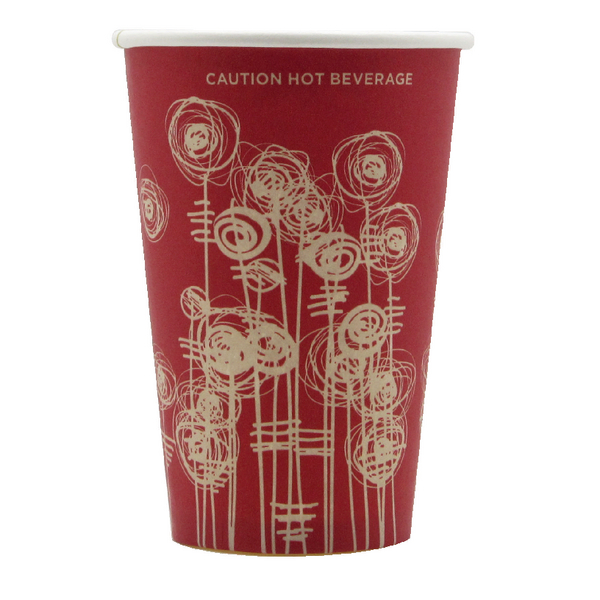 Paper Vending Cup 9oz 25cl Swirl Design (1000 Pack) HHPAVC09A
