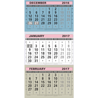 At-a-Glance Large Wall Calendar 3 Month to View 2017