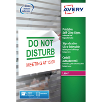 Avery Removable Self Cling Sign 190x275mm (10 Pack) L7080-10