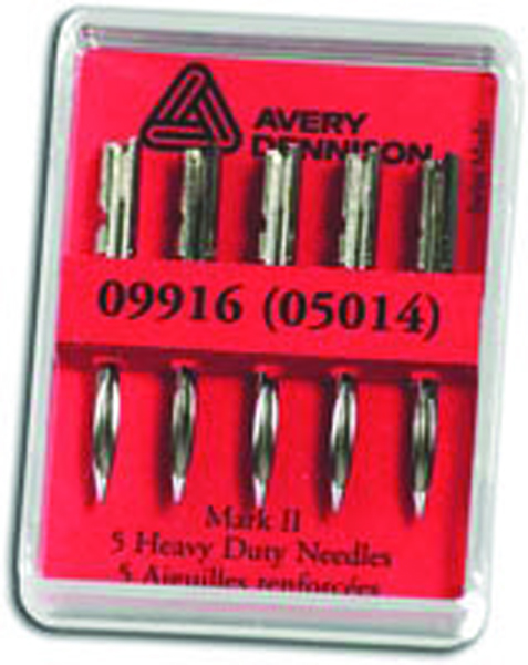 Avery Tagging Gun Needles Heavy Duty 5014 (Pack of 5)