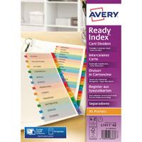 Avery Ready A4 Mylar A-Z Index 02003501