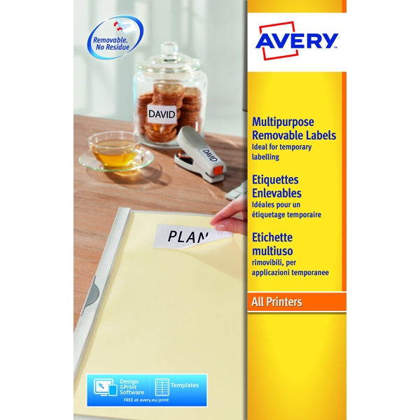 Avery Removable Laser Labels (Pack of 675) L4737REV-25
