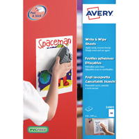 Image for Avery Write and Wipe A4 Sheets (Pack of 5) 24902