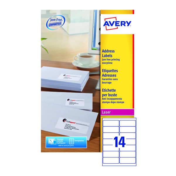 Avery Quickpeel L7163-40 Laser Address Labels (Pack of 560)