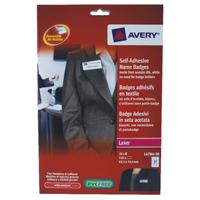 Avery Self-Adhesive Name Badge 27TV White L4784-20