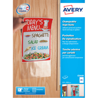 Avery Changable Sign Slots White Pk8