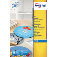 Avery Photo Glossy Inkjet CD/DVD Label 2TV Pack of 25 White C9660-25