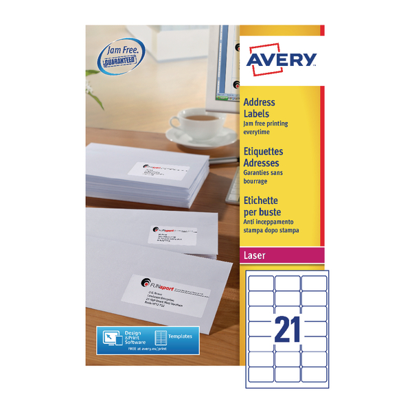 Avery QuickPEEL Laser Address Labels (2100 Pack) L7160-100