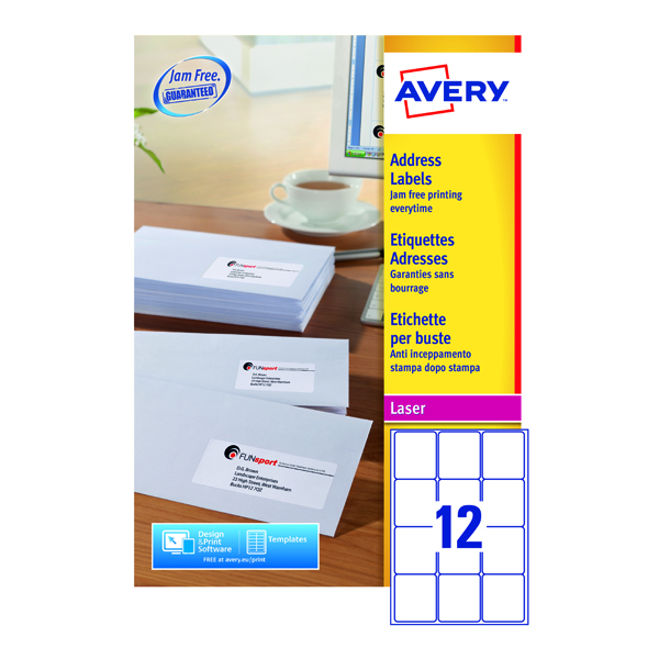 Avery QuickPEEL Laser Address Labels (1200 Pack) L7164-100