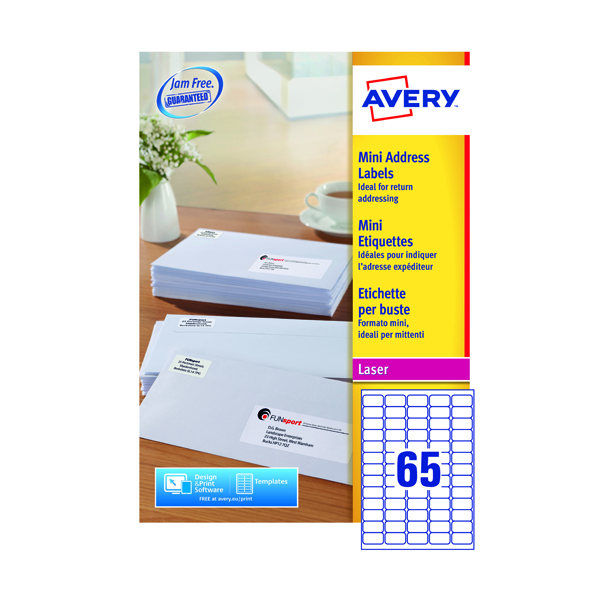 Avery Laser Labels 38.1x21.2 (100 Pack) L7651H