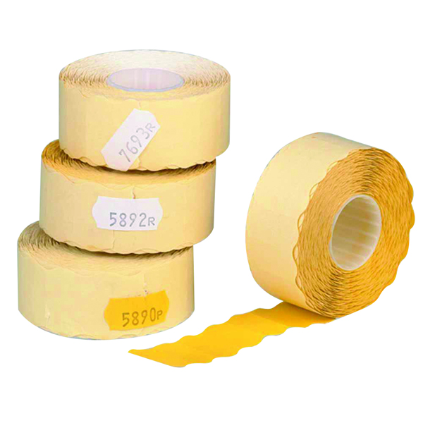 Avery Price Marking Label Single-Line Yellow Roll of 1500 12mm x 26mm Peelable