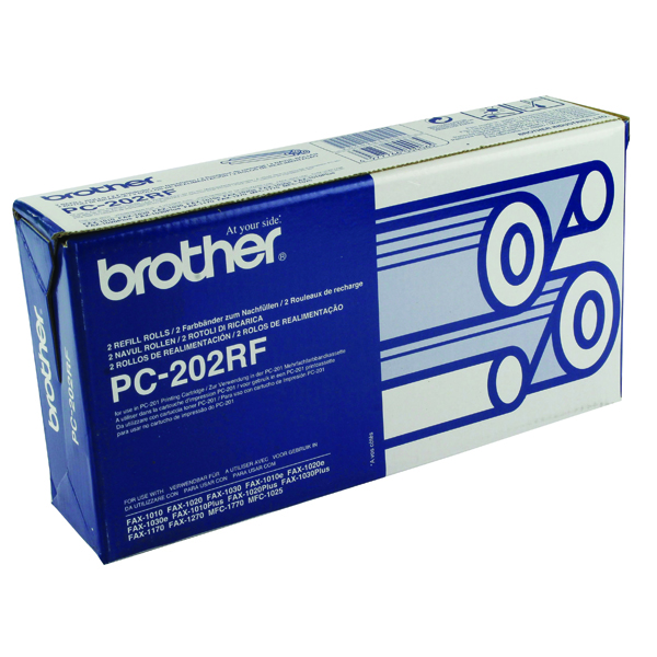 Image for Brother Black Thermal Transfer Film Ribbon (2 Pack) PC202RF